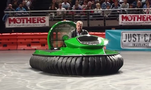 Clarkson Hammond and May Live Hovercraft
